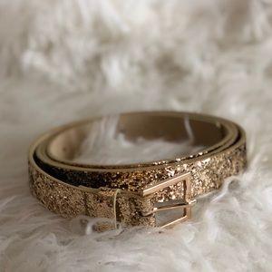 torrid Accessories - Torrid Gold Glitter Belt Size 3